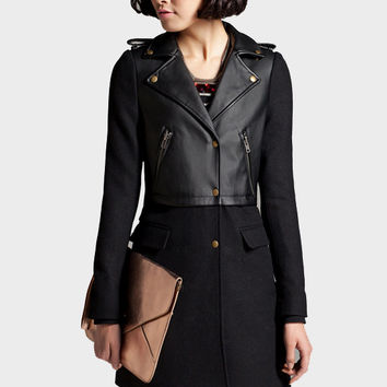 long wool coat, wool jacket, cape jacket, women winter coat, winter jacket, Fall / Winter coat, Modern Casual Wool Blend, leather jacket,