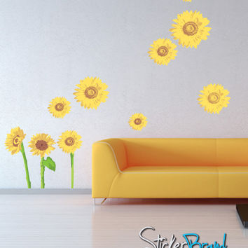 Graphic Wall Decal Sticker Sun Flower #DCriswell105
