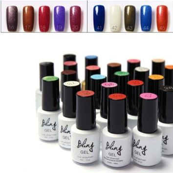 Long Lasting Soak-off Nail Gel Polish LED UV Liquid Gel Nail 6ml (40 Colors for Selection) [6269829828]