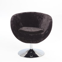 Black 360 Degree Swivel Leisure Chair