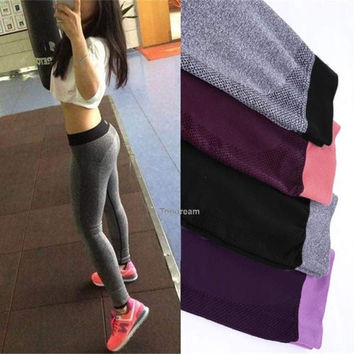Hot Women Yoga Sports Exercise Fitness Gym Pants Leggings Trousers Elastic  Topdream = 1933252036
