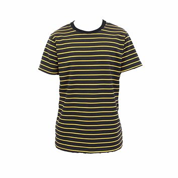 Steven Stripe T-Shirt (Black & Yellow)