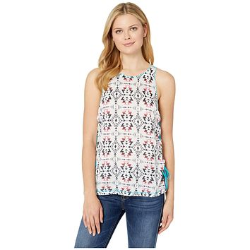 Rock and Roll Cowgirl Aztec Printed Tank Top