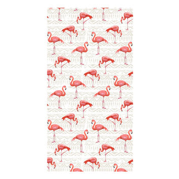 Flamingo Bird Background Towel
