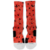 Summer Watermelon Customized Nike Elite Socks Fast Shipping!