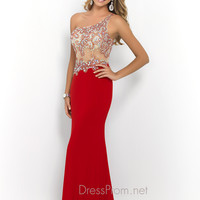 One Shoulder Blush Prom Dress 9910