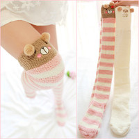 Kawaii animal coral fleece stockings from HIMI'Store