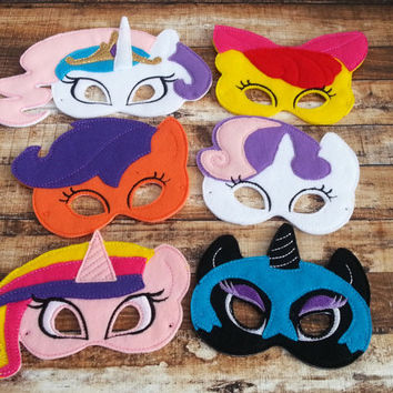 My Little Pony felt Mask