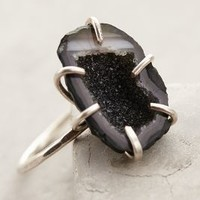 Geode Shimmer Ring by Five and Two Dark Grey