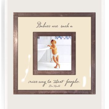 """Babies Are Such Nice Ways 3""""x 3"""" Copper & Glass Photo Frame"""