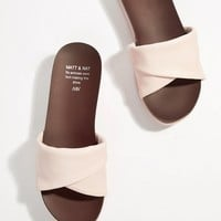 Matt & Nat Flatform Sliders at asos.com