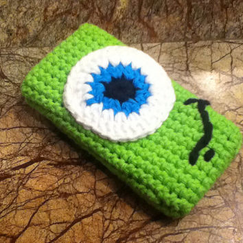 SALE Mike - Monster Inc. Crochet iPhone Case 33%OFF