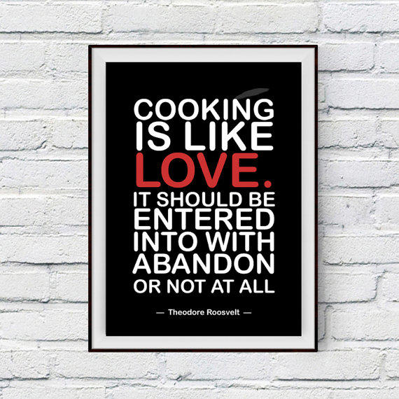 Kitchen Decor Quotes: Kitchen Decor, Cooking Quote, Cooking Is From PrintsDigital On