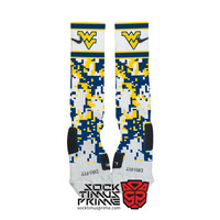 Custom Nike Elite Socks -  West Virginia Custom Nike Elites - WVU Socks, Custom Elites, West Virginia Football, Mountaineers