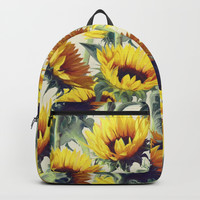 Sunflowers Forever Backpack by Micklyn