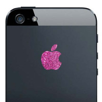 iPhone 5 Sparkling Rose Apple Decal