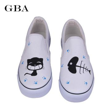 Gba Shoes Woman 2016 Spring New Foot Wrapping Women Shoes Hand Painted Canvas Shoes Ca