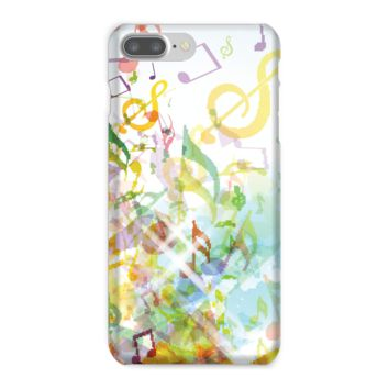 Digital Fall Colored Music Notes Phone Case