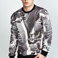 NYC Sublimation Printed Sweater