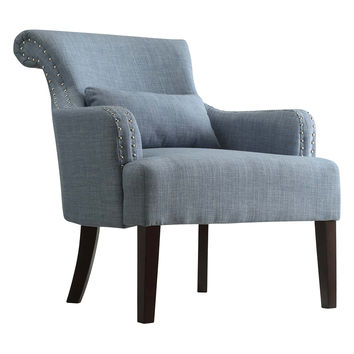 Topline Landin Wing Back Accent Chair - Blue