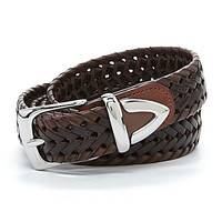 Roundtree & Yorke Big & Tall Larrime Braided Belt - Cognac