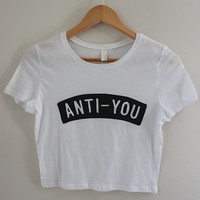 Anti-You Graphic Crop Top