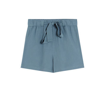 Jogging Bermuda shorts with tie - pull&bear