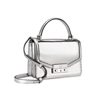 Tory Burch Juliette Mini Glossy Leather Crossbody Satchel