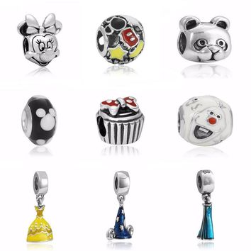 Hot Trendy Charms Jewelry Enamel Cute Mickey Bead For Jewelry Making Large Hole Charm