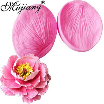3D Peony Flower Petals Silicone Fondant Molds Cake Decorating Chocolate Candy Sugarcraft Cake Mould Polymer Clay Tools CT858