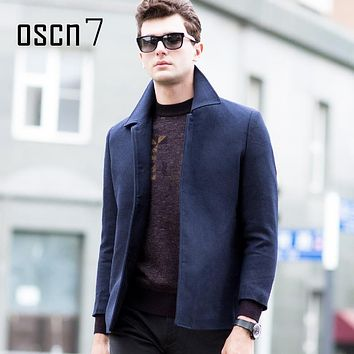 OSCN7 Wool Men Coat 2017 New Winter Formal Mens Cashmere Coat Plus Size Casual Mens Overcoat Manteau Homme Casaco Masculino