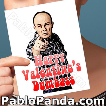 Funny Valentine Card | That 70S Show | Handmade Greeting Girl Valentine Cards Funny Valentines Day Red Forman Gift For Men Romantic