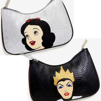 Licensed cool Disney Snow White & Evil Queen Cosmetic Make-Up Bag License Danielle Nicole NWT