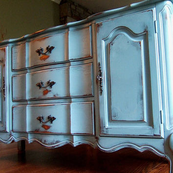 Distressed French Country Buffet in a Antiqued French by Artisan8