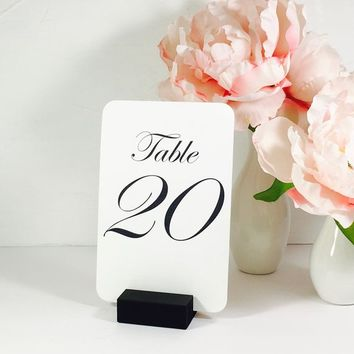 Table Number Holder Black Card Holder Wedding Card Holder 2 inch Set of 20 For Restaurants Weddings Banquets, BLACK,  by Gallery360Designs