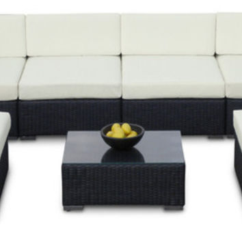 2017 Outdoor Sofa All Weather Wicker Sectional 7 Piece Resin Couch Sofa Set