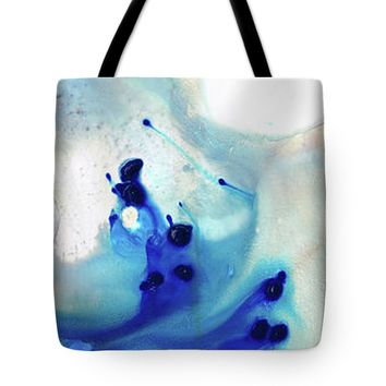 Blue Abstract Art - The Long Wave - Sharon Cummings Tote Bag