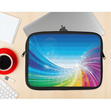 The Rainbow Hd Waves Ink-Fuzed NeoPrene MacBook Laptop Sleeve