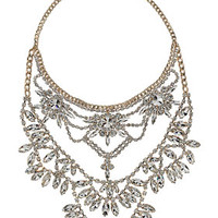 PREMIUM MULTIROW RHINESTONE NECKLACE