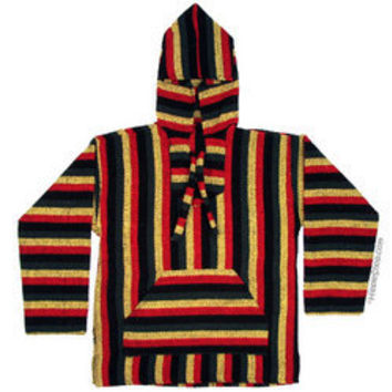 Rasta Pullover Baja Hoodie on sale for $17.95 at HippieShop.com