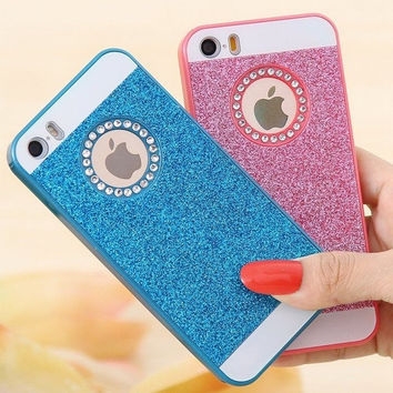 Candy Color Bling Crystal Diamond Glitter Hard Case Cover For iPhone 5 5S For Phone 6 4.7'' For iPhone 6 Plus 5.5 inch = 1958626244