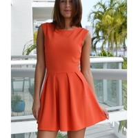 Lindsay Orange Flirty Dress