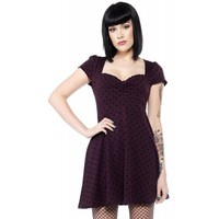 Polka Dot Vixen [Purple] | DRESS