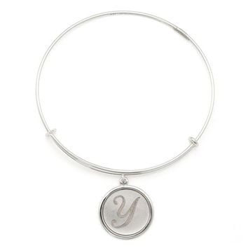 Alex and Ani Precious Initial Y Charm Bangle - Argentium Silver