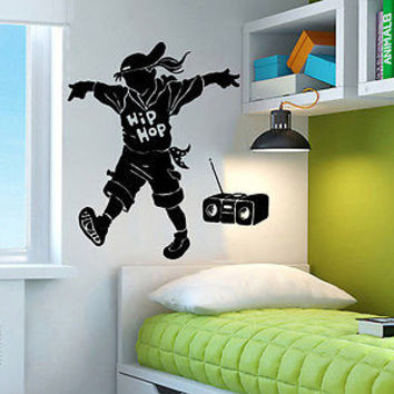 Wall Decal Hip Hop Dance Studio Dancer Dance Vinyl Sticker Decals Decor C111