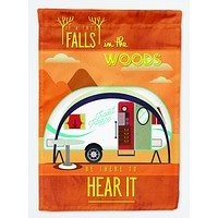 Be in the Woods New Camper Flag Garden Size BB5484GF