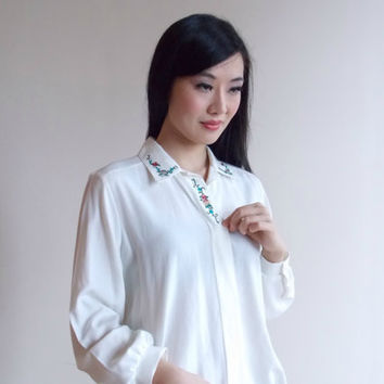 dressy tops for women / white peasant blouse / white blouses / womens dressy tops