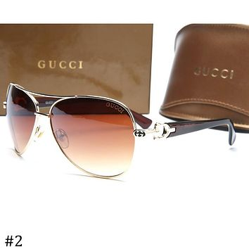 38002fd5c75f0 GUCCI 2018 new aviator-style driving frog mirror sunglasses F-ZXJ  2