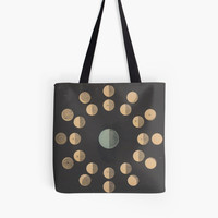 'Antique Moon Phases Diagram' Tote Bag by bluespecsstudio