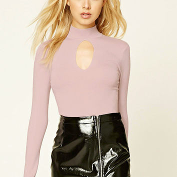 Cutout High-Neck Sweater
